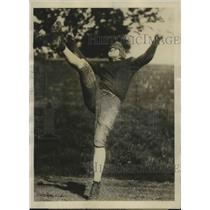 1920 Press Photo Warner Mizell Practicing with Georgia Tech Team For Season