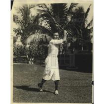 1920 Press Photo boxer Tony Canzoneri golfing in Miami - sbs03334