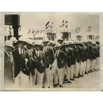1928 Press Photo British Olympic Team in Opening Parade, Amsterdam - sbs04208