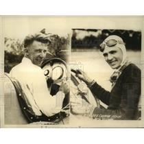 1934 Press Photo Rcik Decker, Lou Meyer to Race in Indianpolis 500-Mile