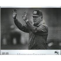 1986 Press Photo Chuck Knox-Head Coach of the Seattle Seahawks Football Club