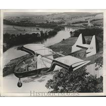 1957 Press Photo rendering of an aircraft concept by Custer Channel Wing Corp.