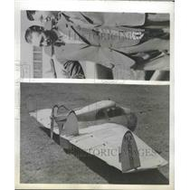 1945 Press Photo George Soura Killed When the 'Flying Wing' Crashed Into Street