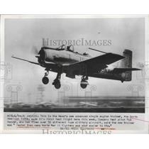 1953 Press Photo U.S Navy Single Engine Trainer The North American T-288