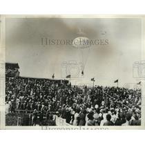 1935 Press Photo National Air Races, Cleveland, Ohio Parachute Jumper
