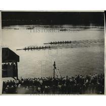 1928 Press Photo University of California Rowing Crew Beats Columbia