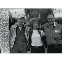 1967 Wire Photo Pilot Ann Pellegreno prepares for flight around the world