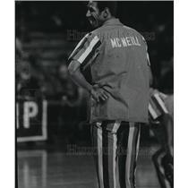 1976 Press Photo Larry McNeill Smiles During Warmups, Kansas City-Omaha Kings