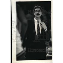 1992 Press Photo Coach Phil Jackson of Chicago Bulls - mja56771