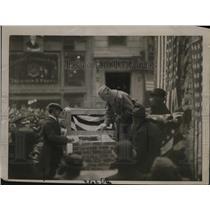 1921 Press Photo Leonard Wood Laying Cornerstone of Roosevelt House, New York