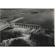 1951 Press Photo Aerial view of McNary Dam - spa43730