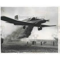1954 Press Photo A Crop-Duster in Demonstration at Company's Airport - nef67541