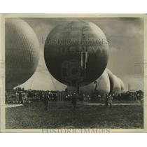 1930 Press Photo Pilot Balloon Belgium Good Year Eight - nef67903