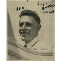 1925 Press Photo R.H. Greenstone owner of Smallest plane in Cleveland, OH