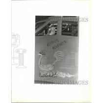 1989 Press Photo B-52 fuselage decorated with image & name of Ridge Runner