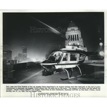 1980 Press Photo Air 80 on police headquarters, downtown Los Angeles, California