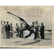 1937 Press Photo Frank Kiewicz Winning News-Bee Gas Model Junior Aviator Contest