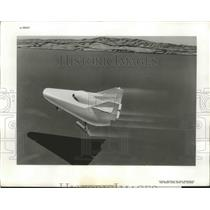 1963 Press Photo Art Conception of the M-2 Wingless Spacecraft During Mission
