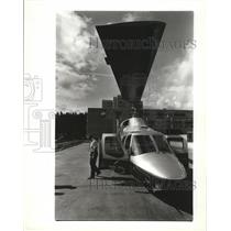 1992 Press Photo Deaconess Medical Center unveiled its new $750K Bell helicopter