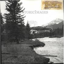 1964 Press Photo Forest Service helicopter at a Rescue operation - spa67307