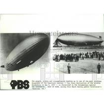 1984 Press Photo The Hindenburg: Ship of Doom documentary special - spa72612