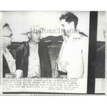 1956 Press Photo Shelby McCauleys Opnion that 2 Super-Liners Collide Killing 128