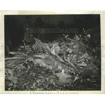 1941 Press Photo Curtiss P-40 Plane Lies Crashed In Field Northeast of Eastport