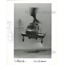 1993 Press Photo A Lifebird helicopter from Deaconess Hospital. - spa55412