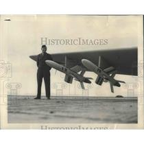 1949 Press Photo Ryan 'Firebird' First Air Force air-to-air Quided Missile
