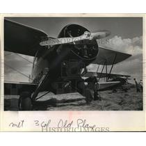 1966 Press Photo 1931 antique biplane in show at the Waukesha County airport