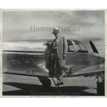 1955 Press Photo Marcellus M. Murdock,Kansas Publisher won his student Pilot