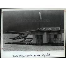 1984 Press Photo Coeur d'Alene-Brooks Seaplane Service at City Dock - spa65393
