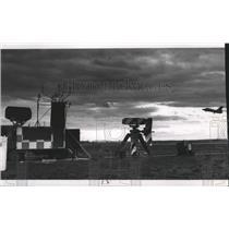 Press Photo Fairchild Air Force base runways - spa61986