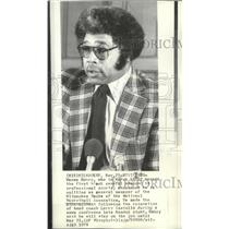 1976 Press Photo Milwaukee Bucks basketball team's general manager, Wayne Embry