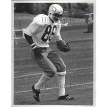 1977 Press Photo Seattle Seahawks football player, Duke Fergerson, training