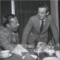 1978 Press Photo Tom Hodges with New York Rangers hockey manager, Emile Francis