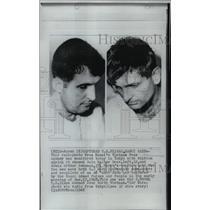 1968 Press Photo P.O.W.'s U.S. Pilots Dale Walter Doss and Edwin Arthur Schuman