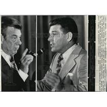 1976 Press Photo Entertainer and Pilot Arthur Godfrey with William M. Magruder