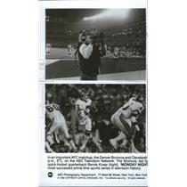 1990 Press Photo Broncos football's John Elway featured in Monday Night Football
