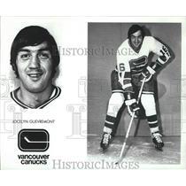 1975 Press Photo Vancouver Canucks hockey player, Jocelyn Guevremont - sps05942