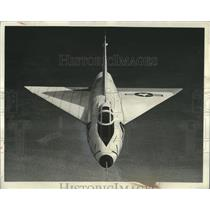 1952 Press Photo Convair's XF-92A research interceptor's first head-on view