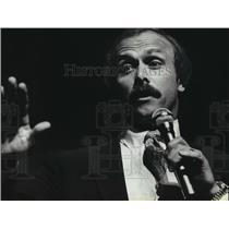 1981 Press Photo Rocky Bleier, Pittsburgh Steelers, Gives Motivational Speech