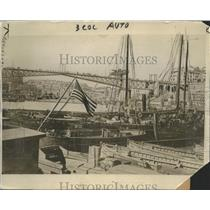 1918 Press Photo Landing Place of Pres. Wilson when he sets foot on French Soil