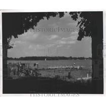 1901 Press Photo People swimming at the Lake - nef66858