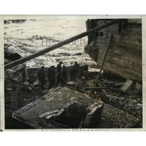 1936 Press Photo Rumford, Maine Morse Bridge Reconstruction - neo10772