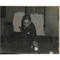 1930 Press Photo Johnny Cirrito of Memphis, 12-Year-Old Billiards Player