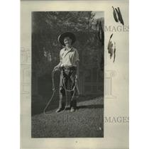 1931 Press Photo ay Wheeler youngster with his lasso - neo17254