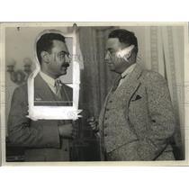 1926 Press Photo Saenz, Mexican Min of For Aff & Consul Alejandro in SF Bureau