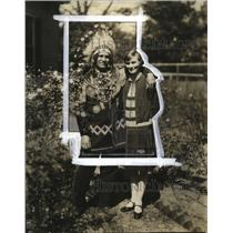 1926 Press Photo Great Chief Deerfoot and his bride Zennie Gilbert of Georgia