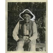 1928 Press Photo Diego Conedo 110 Year old Indian Chief to attend Ramona Premier